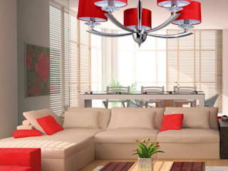 Angelo Luz + Diseño Living roomLighting Red