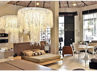 Angelo Luz + Diseño Living roomLighting Giấy Beige