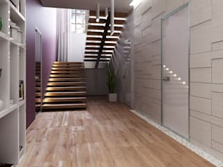 Corridor & hallway by A-partmentdesign studio,