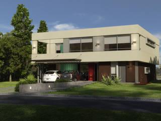 CASA EN EL CANTON: Casas de estilo  por Muras Oficina de Arquitectura,