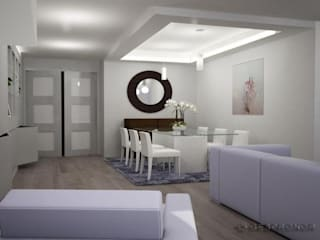Modern Dining Room by GESTION INTEGRAL DE PROYECTOS DEL NOROESTE S.L. Modern