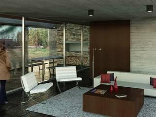 Casa MF: Livings de estilo  por Teje Estudio