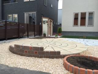 株式会社エクスリーフ 花園柵欄與牆 磚塊 Brown