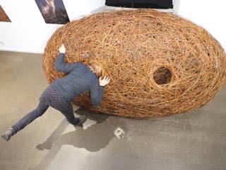 Triptyque de nids: Centre d'expositions de style  par Wood Basketry Workshop