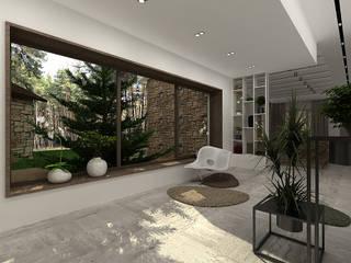 A-partmentdesign studio Minimalistische Wohnzimmer MDF Weiß