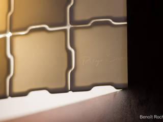 Tissage porcelaine translucide Espaces de bureaux modernes par Passage secret Moderne