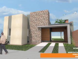CASA BG: Casas de estilo  por Estudio de Arquitectura Pereyra Kohli