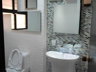 REMODELACION APTO 101 CR TORRES DEL PRADO : Baños de estilo moderno por ARQUITECTONI-K Diseño + Construcción SAS