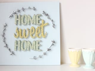 MINTIWALL STRING ART WALL DECOR  – Home Sweet Home Sign Wall Decor:  tarz