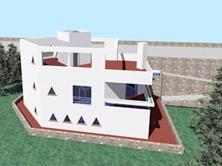Progetto di un'abitazione isolata Giardino moderno di Studio Tecnico Atorino Moderno