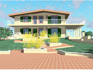 villino con giardino: Giardino in stile in stile Classico di Studio Tecnico Atorino