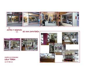 Antes y después de una zapateria:  de estilo  de Interiorismo y Decoración Lola Torga
