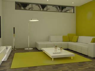 Uma casa em Angola... Salas de estar modernas por ArqDecor Moderno