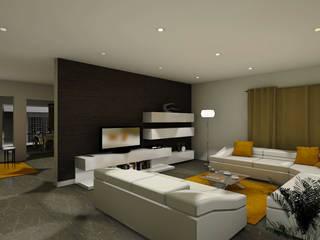 Uma casa em Angola...: Salas de estar modernas por ArqDecor
