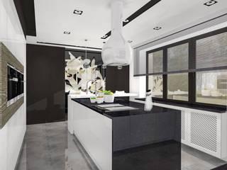 Kontrasty: styl , w kategorii Kuchnia zaprojektowany przez Justyna Kurtz