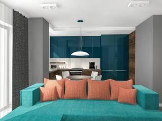 Kolor morza: styl , w kategorii Kuchnia zaprojektowany przez Justyna Kurtz