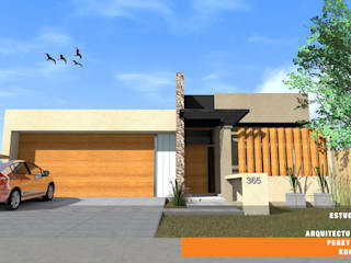 CASA GP: Casas de estilo  por Estudio de Arquitectura Pereyra Kohli