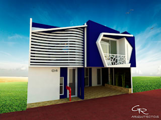 House Cub-48 Casas modernas de GT-R Arquitectos Moderno