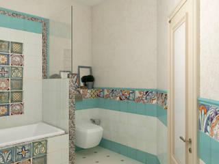 Bathroom by Студия дизайна Дарьи Одарюк, Mediterranean