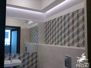 Łazienka : styl , w kategorii Łazienka zaprojektowany przez Pegaz Design Justyna Łuczak - Gręda,