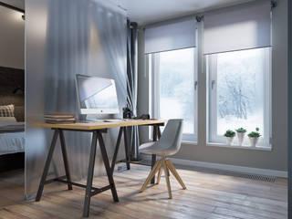 bureau:  de style  par kmmarchitecture