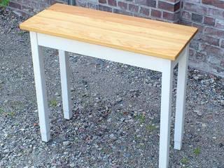 Holztisch, schmaler Tisch für Küche, Flur, Diele, Bad, Pitchpine auf Eiche von Vollholz - Service Koopmann Landhaus