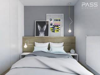Scandinavian style bedroom by PASS architekci Scandinavian