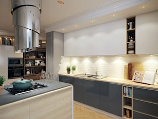 Мебельная улица: Кухни в . Автор – Дарья Баранович Дизайн Интерьера