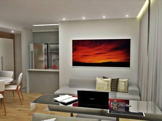 Minimalist Oturma Odası Atelier Par Deux Minimalist