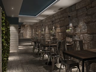 Porto Meu - Steakhouse Espaços de restauração industriais por Tiago Martins - 3D Industrial