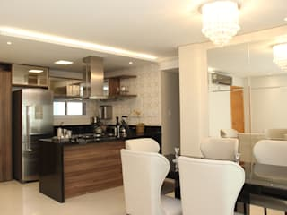 APARTAMENTO L'ESSENCE Cozinhas modernas por TL Arquitetura e Interiores Moderno