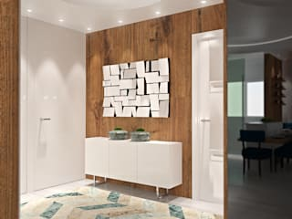 Apartamento Corredores, halls e escadas modernos por Tiago Martins - 3D Moderno