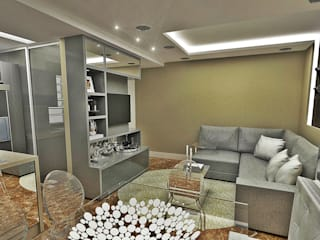Ruang Keluarga Gaya Eklektik Oleh Atelier Par Deux Eklektik