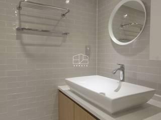 내추럴한 분위기의 34py 아파트 인테리어 스칸디나비아 욕실 by 홍예디자인 북유럽