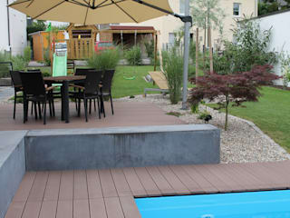 Moderner Familiengarten:  Garten von Lemoni GartenDesign