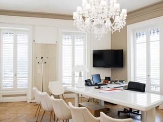 Rénovation d'une étude notariale à Lyon réHome Salle multimédia moderne
