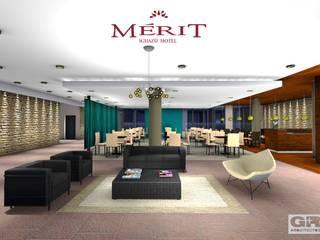 Mérit Hotel Iguazu: Livings de estilo  por G+R Arquitectura