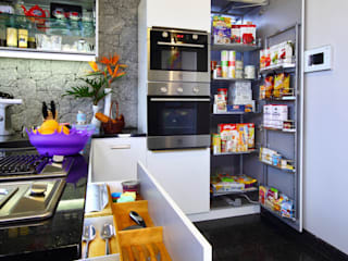 Kitchen Storage and Organizers: scandinavian  by Savio and Rupa Interior Concepts ,Scandinavian
