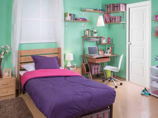 Recámara/estudio Teen: Recámaras de estilo  por Idea Interior