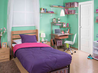 Idea Interior BedroomBeds & headboards Chipboard Purple/Violet