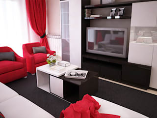 Salas de estar modernas por GRAÇA Decoração de Interiores Moderno