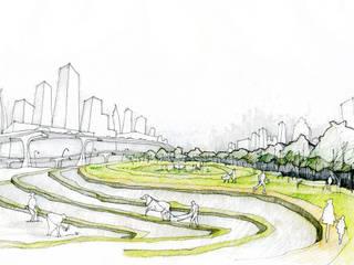 Troca Urbana por Jakarta Jardins modernos por Studio CSD Moderno