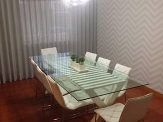 Decoração Integral – Sala de estar + Sala de jantar:   por Silvia Home Decor