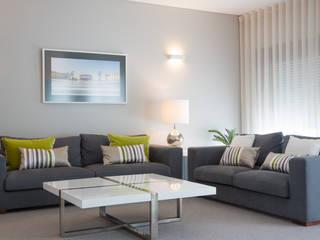 Um apartamento contemporâneo Architect Your Home Salas de estar modernas