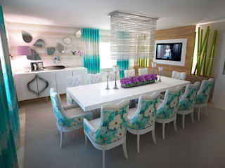 Salas de jantar modernas por GRAÇA Decoração de Interiores Moderno