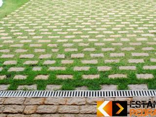 Pedra Paralelepípedo Rustic style walls & floors by LAD Pedras Rustic