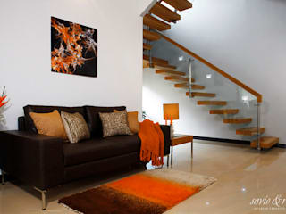 Misty Haven Villa Modern corridor, hallway & stairs by Savio and Rupa Interior Concepts Modern