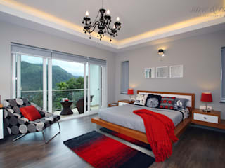 Misty Haven Villa Modern style bedroom by Savio and Rupa Interior Concepts Modern