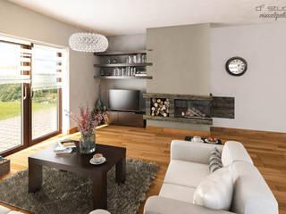 Salon klasyczny z kuchnią / CLASSIC LIVING ROOM with KITCHEN od D2 Studio Klasyczny