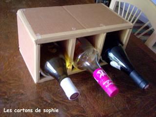 Différentes façons de ranger des bouteilles.... par Les cARTons de Sophie Industriel